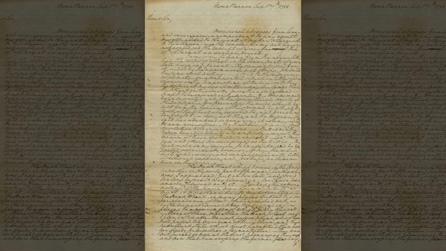 La carta alaba a Dios por la ratificación de la Constitución de los Estados Unidos (The Raab Collection)