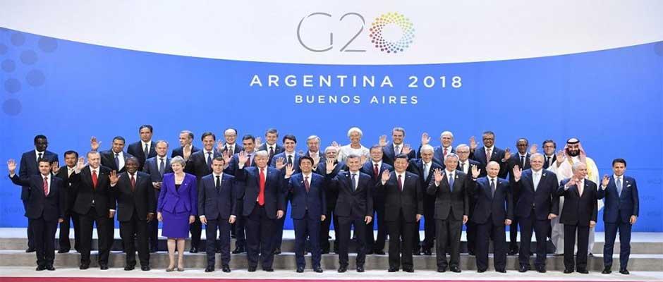 Los mandatarios de la cumbre del G20, incluido el anfitrión, el presidente Mauricio Macri / AFP,G20