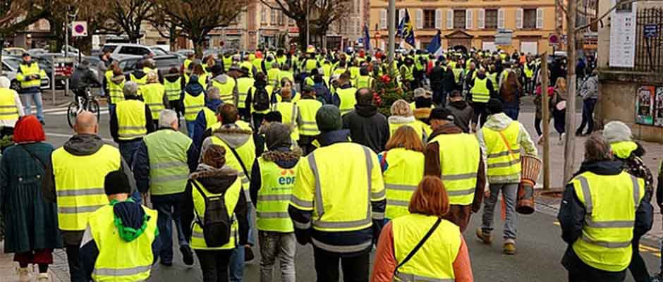 ,Chalecos amarillos, Francia