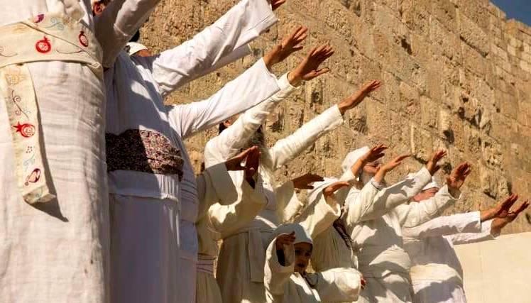 Participantes del ritual (Jerusalén, 10 de diciembre de 2018) / Olivier Fitoussi