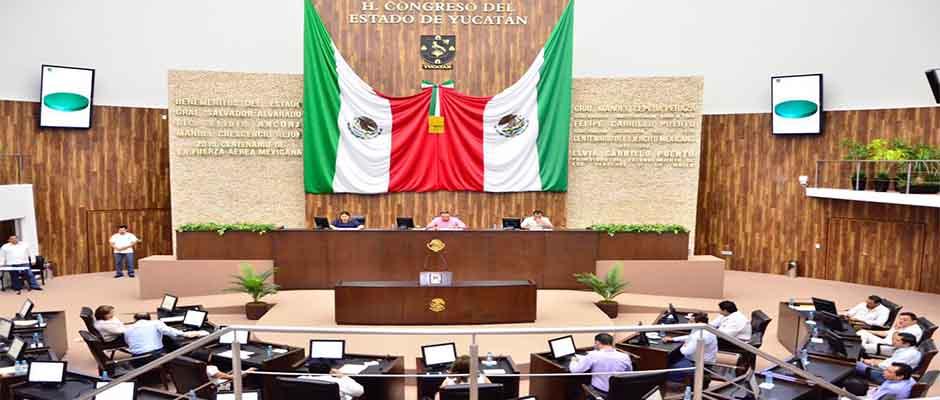 El pleno del Congreso de Yucatan,