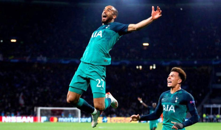 Moura celebra su último gol en la semifinal de Champions en el estadio del Ajax / Reuters,Lucas Moura