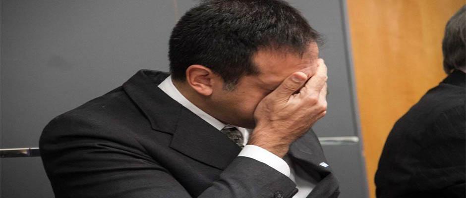 El Dr. Leandro Rodríguez al momento del veredicto.,