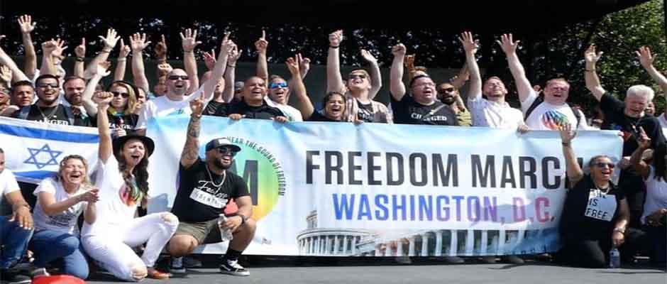 Participantes en la Marcha por la Libertad en Washington DC / LifeSiteNews,