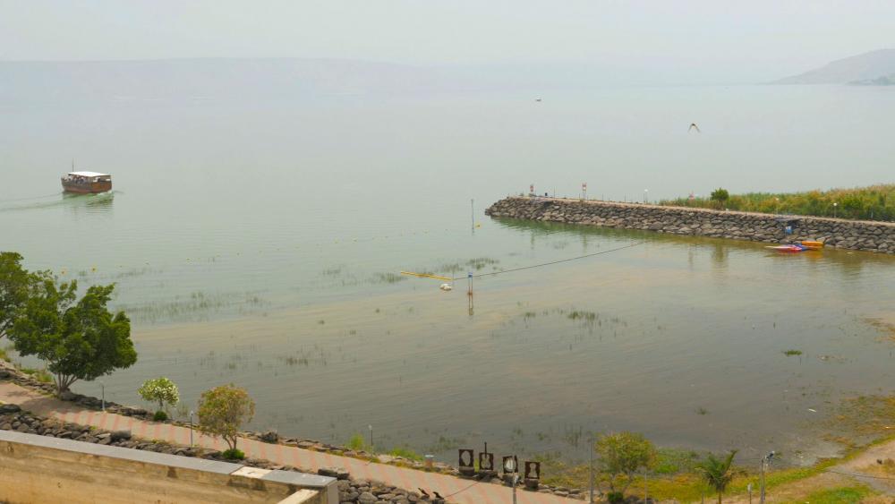 Mar de Galilea, visto recientemente desde el Kibbutz Ginnosar / CBN News,Mar de Galilea