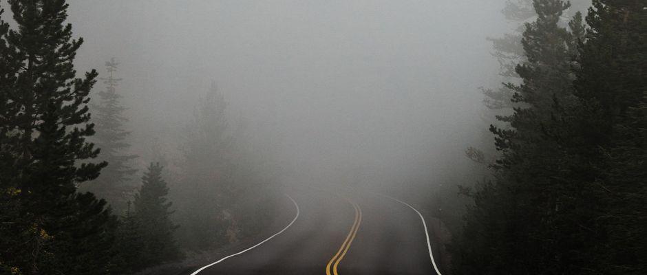 Katie Moum, Unsplash,bosque niebla, carretera niebla