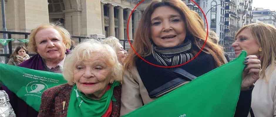Marisa Graham (en círculo rojo) es una conocida activista proaborto,Marisa Graham
