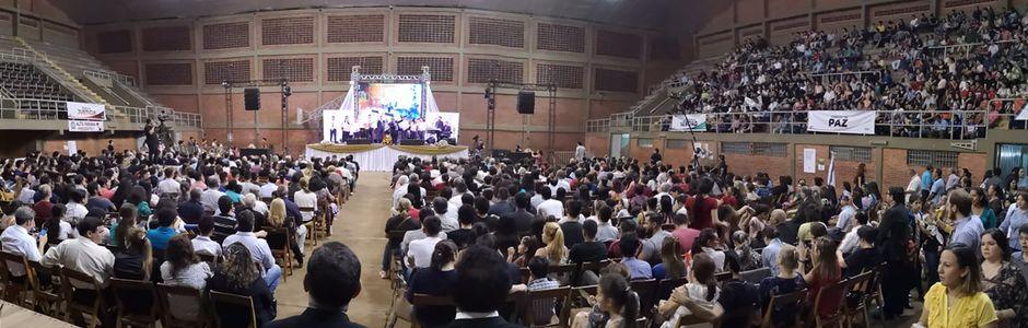 Un momento del evento conmemorativo,100 años de obra bautista en Paraguay