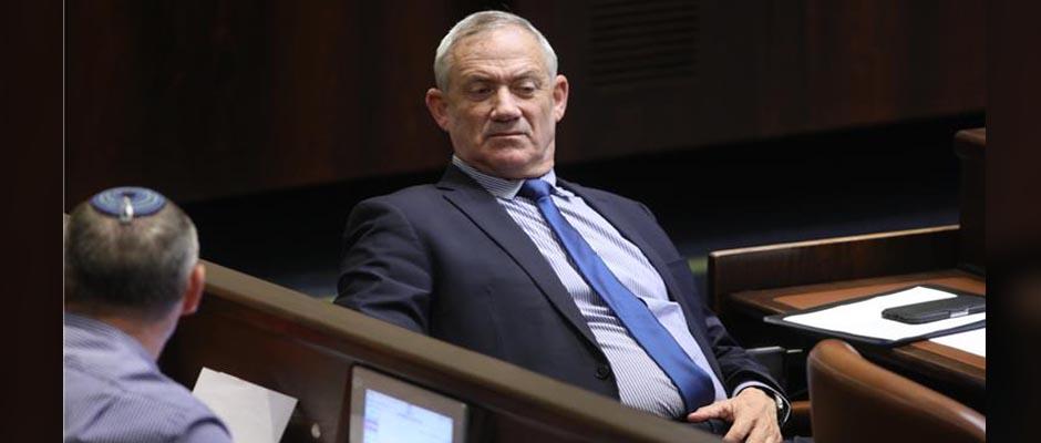 Benny Gantz en el Parlamento / Kneset,