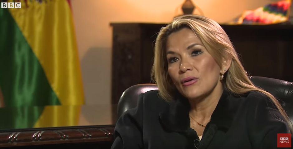 Jeanine Áñez en la entrevista de la BBC,Jeanine Áñez