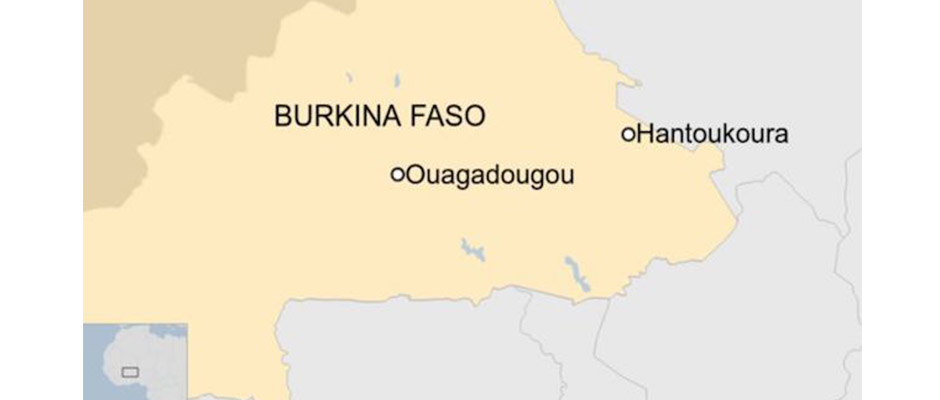 Una iglesia cristiana en el pequeño pueblo de Hantoukoura ha sido objeto de un ataque que ha provocado 14 muertos. / Twitter,Burkina Faso