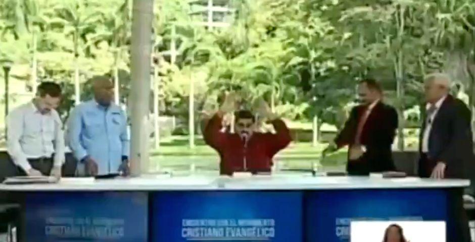 Captura del video del encuentro de Maduro con supuestos pastores evangélicos,Captura del video del encuentro de Maduro con supuestos pastores evangélicos