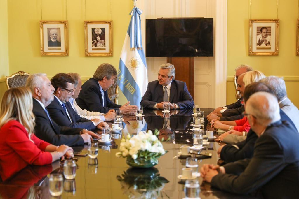 Líderes de ACIERA en reunión con el presidente Fernández / ACIERA archivo,