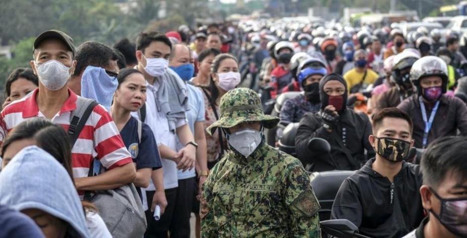 Foto: Filipinas es uno de los países del Sudeste asiático que ha impuesto restricciones más duras ante la epidemia. / Twitter @Cronistacom,