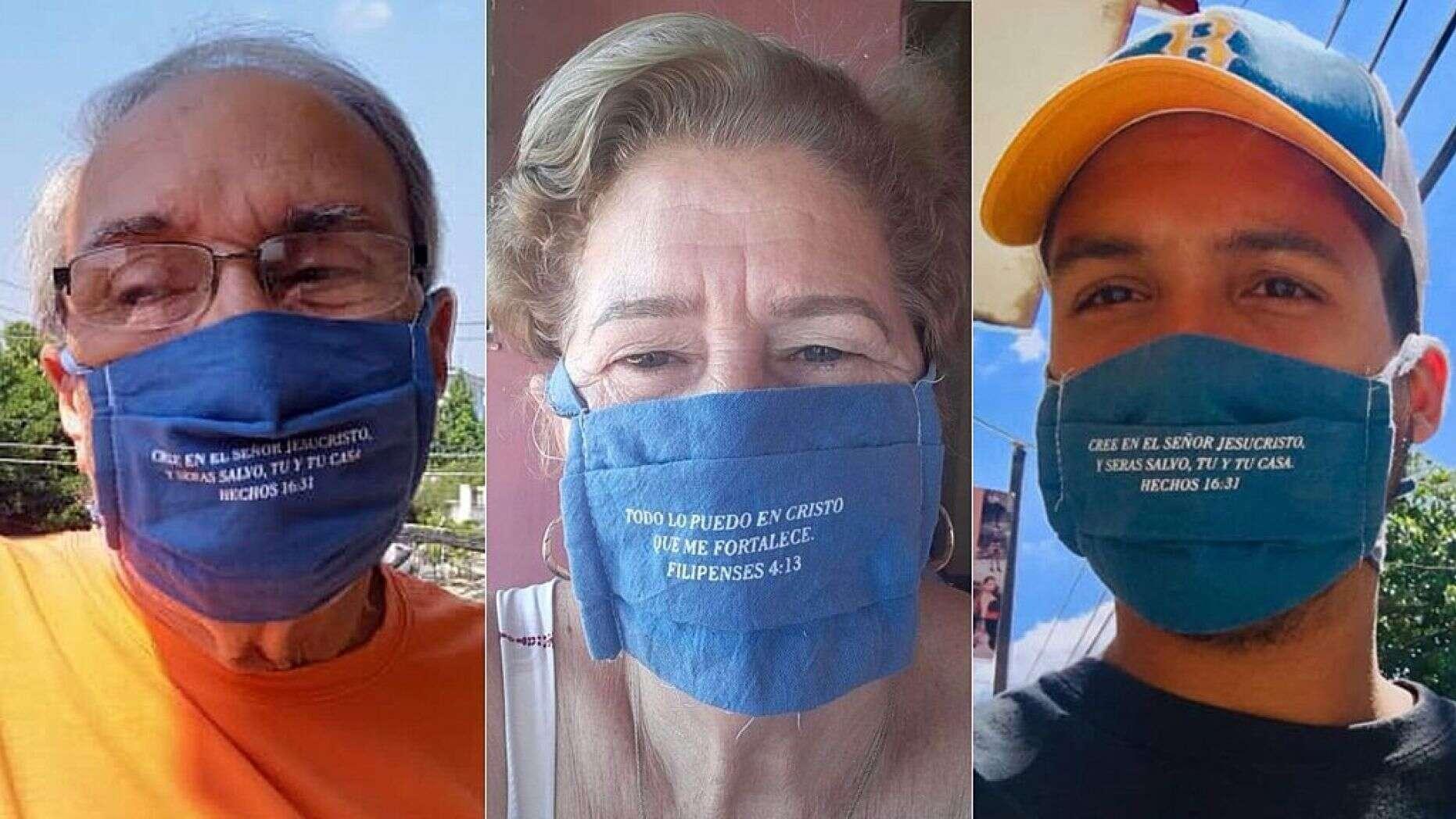 A los pastores cubanos se les ocurrió la idea de poner versículos de la Biblia en sus mascarillas. / World Help,