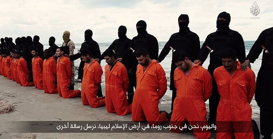 Video del martirio de los 21 cristianos coptos / Captura YouTube,Video del martirio de los 21 cristianos coptos