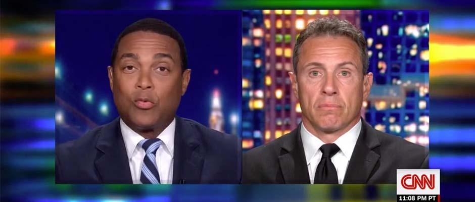 Los presentadores Don Lemon y Chris Cuomo durante el programa CNN Tonight with Don Lemon / CNN,Don Lemon