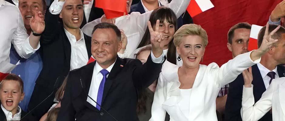 El presidente de Polonia, Andrzej Duda, y su esposa, Agata / AFP,Andrzej Duda