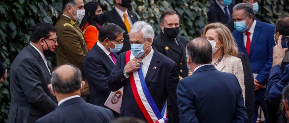 En medio de estrictas medidas sanitarias acudió el presidente Piñera / Agencia Uno,Sebastián Piñera