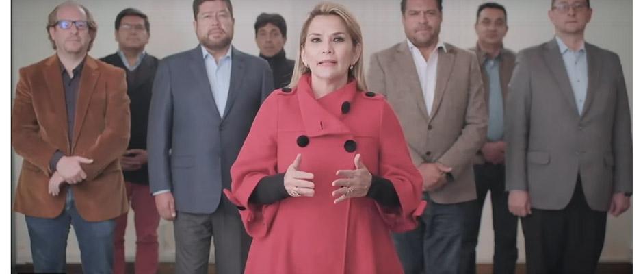 Jeanine Áñez anuncia el retiro de su candidatura,Jeanine Áñez