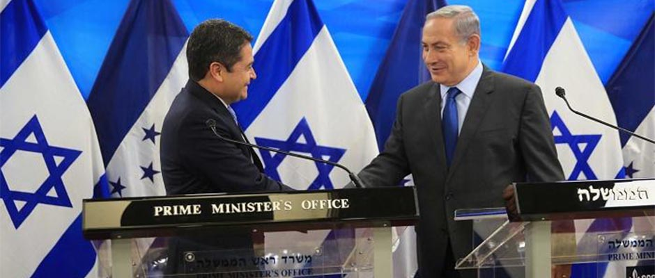 Juan Orlando Hernández y Benjamín Netanyahu / Presidencia de Honduras,Juan Orlando Hernández, Benjamín Netanyahu