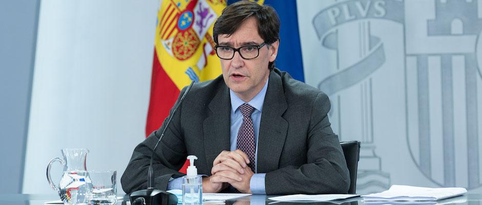 El ministro de Sanidad español, Salvador Illa, explica las nuevas medidas sanitarias. / Borja Puig de la Bellacasa, Pool Moncloa,Salvador Illa
