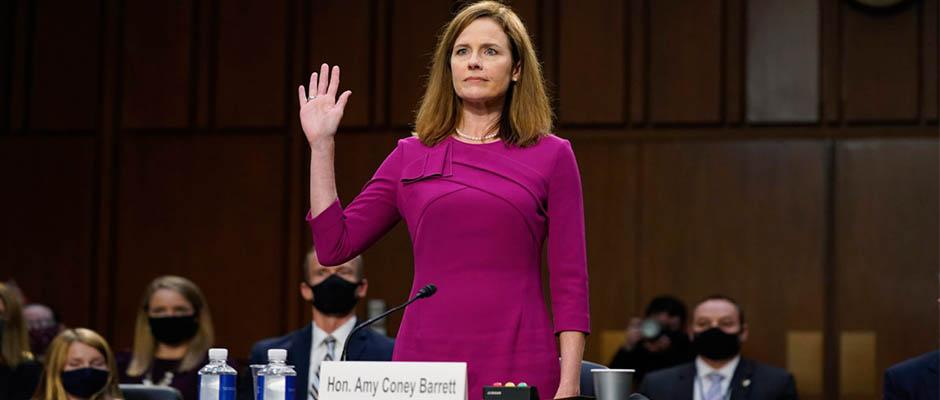 Amy Coney Barrett, nominada a la Corte Suprema de los Estados Unidos / Pool/Sipa USA/Newscom,Amy Coney Barrett