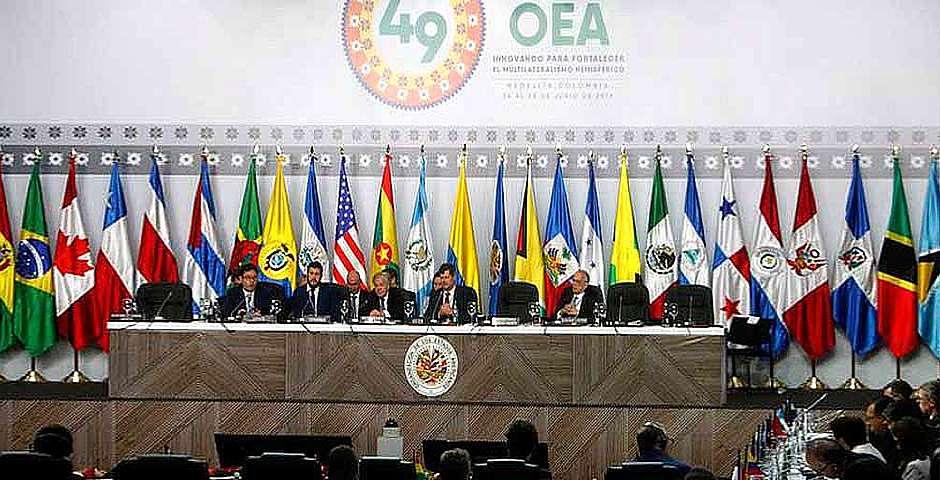 La 49 Asamblea General de la OEA, en Medellín (Colombia). EFE/Luis Eduardo Noriega/Archivo,OEA