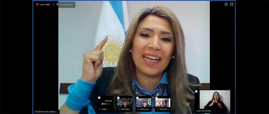 La pastora y concejal Nadia Márquez emitió un contundente discurso ante la OEA,