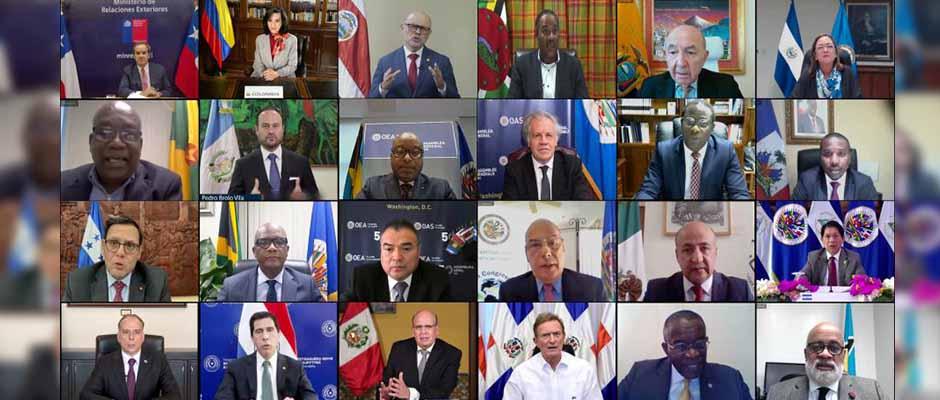 La Asamblea General número 50 de la OEA se realizó de forma virtual / Foto: Juan Manuel Herrera - OEA,OEA