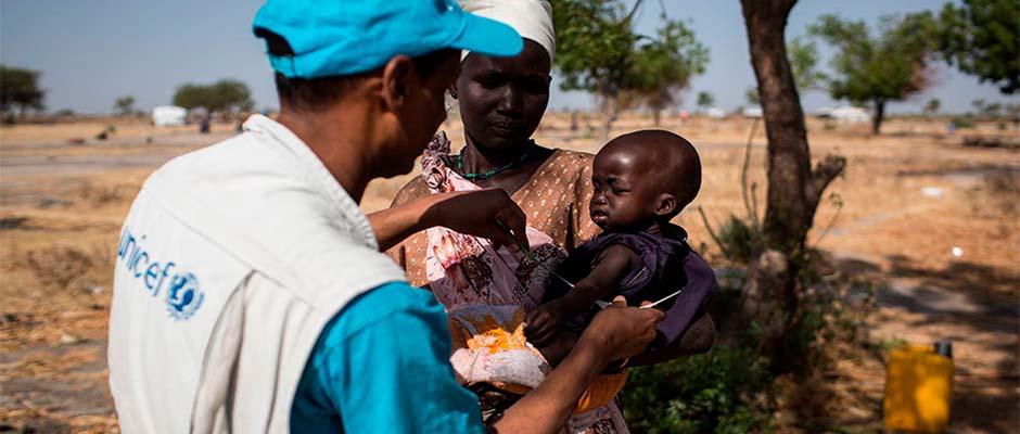 Más de 100.000 personas podrían morir de hambre en cualquier momento en Sudán del Sur / Unicef,