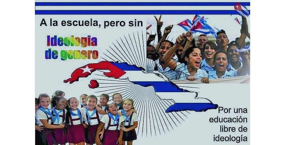 Imagen de la campaña,A la escuela, pero sin ideología de género